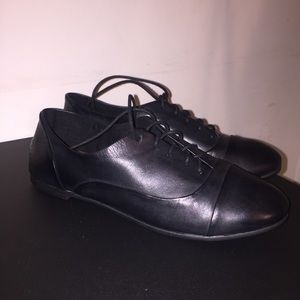 NWOT Lucky Brand Davie Leather Oxford Lace Up Flat